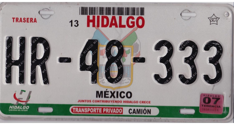 Mexico 2007  HIDALGO TRIPLE 333