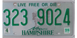 New Hampshire 2016-LIVE FREE OR DIE