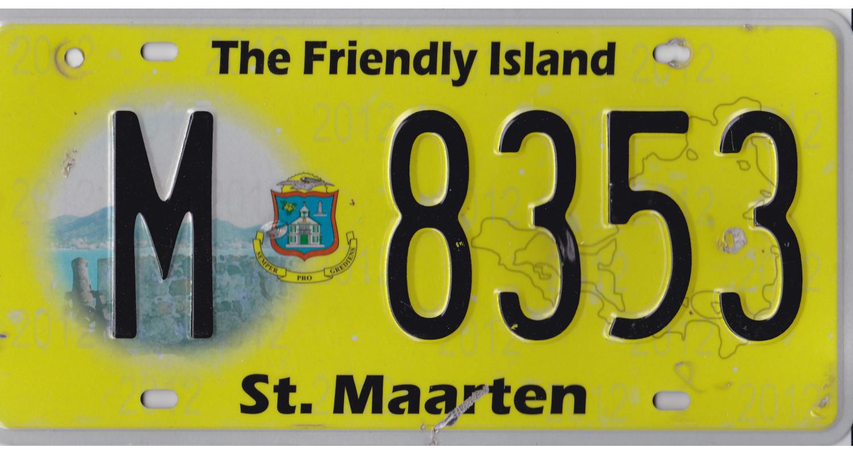 CARIBBEAN 2012 St-Maarten-license plate