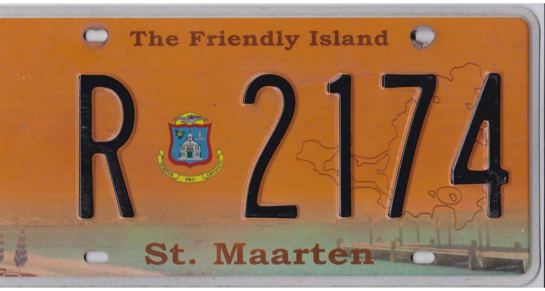 CARIBBEAN 2015 St-Maarten-license plate