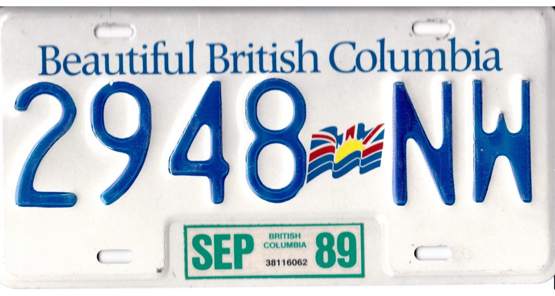 British Columbia 1989-FLAG
