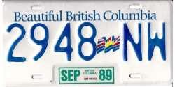 Colombie Britannique 1989-DRAPEAU