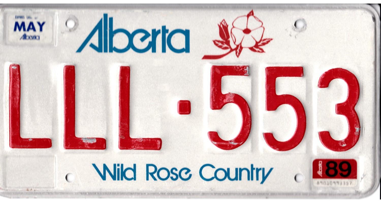 Alberta 1989 Triple LLL