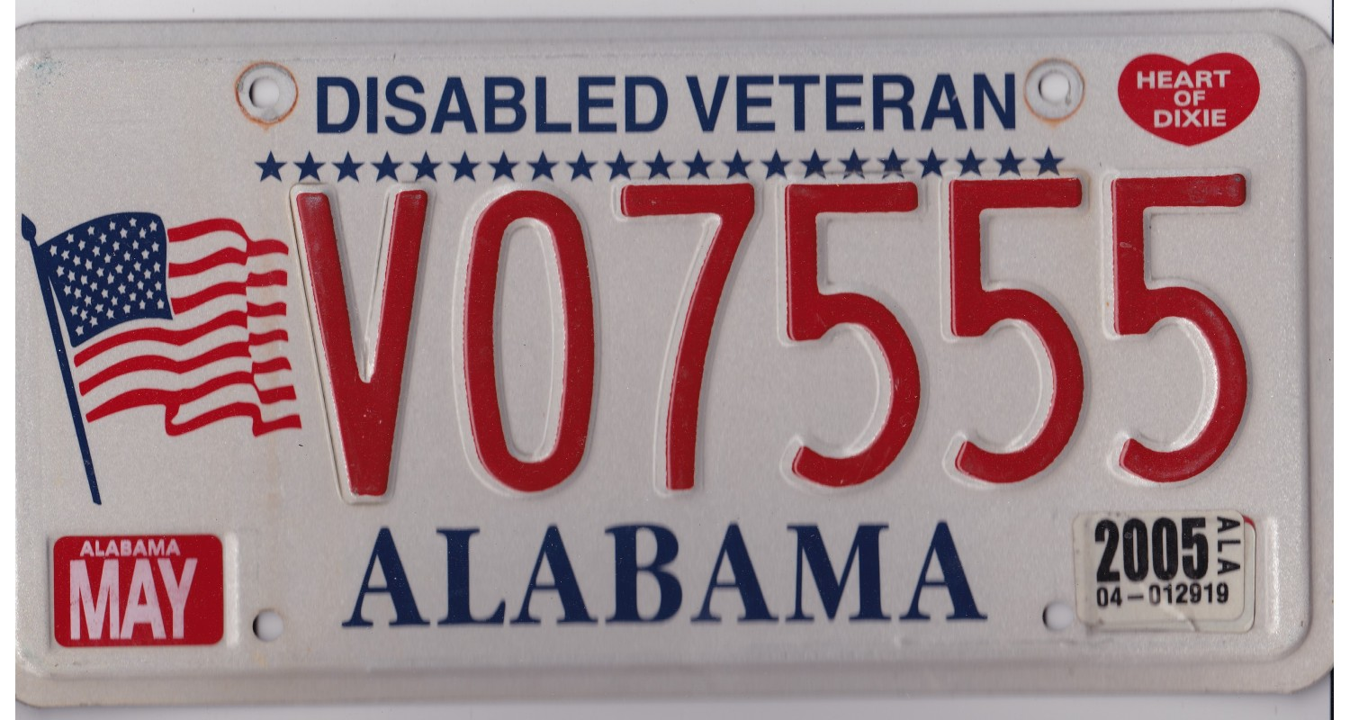Alabama 2005-VETERAN-TRIPLE 555-FLAG