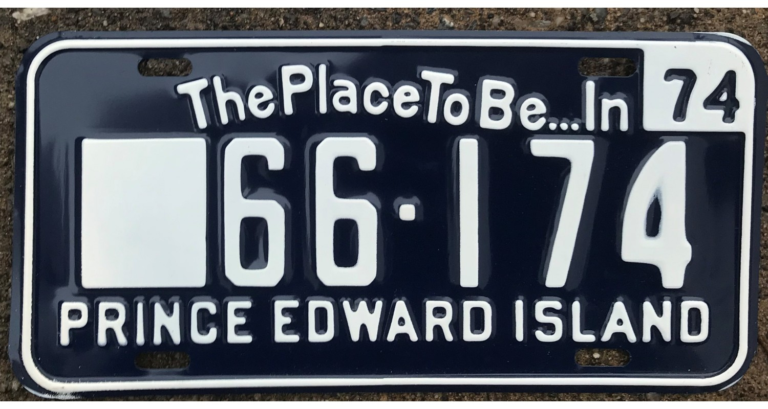 Prince Edward Island 1974  license plate