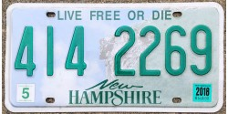 New Hampshire années 2015-LIVE FREE OR DIE