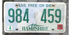 New Hampshire 2002-LIVE FREE OR DIE