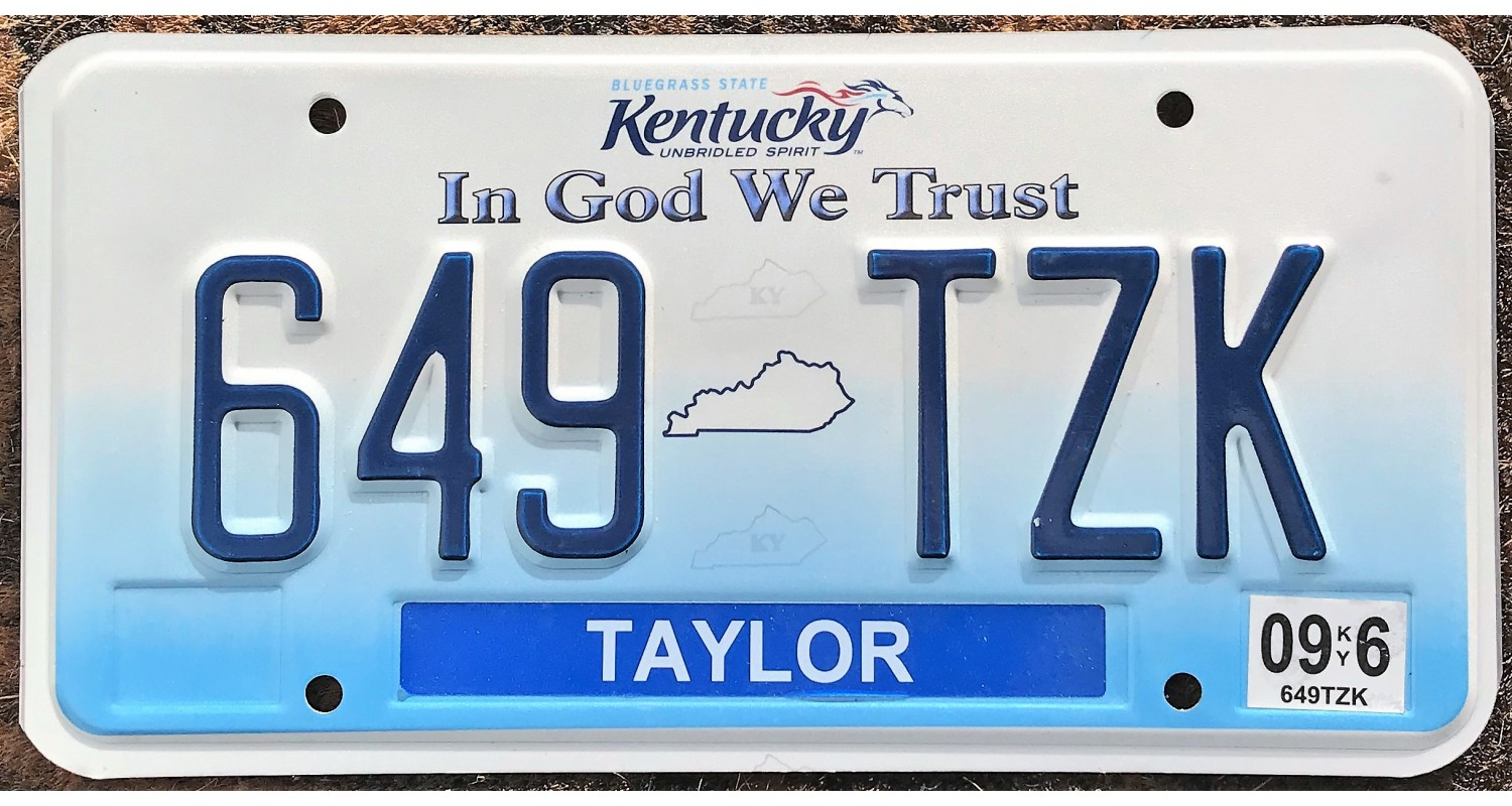 Kentucky 2006-taylor county-in god we trust