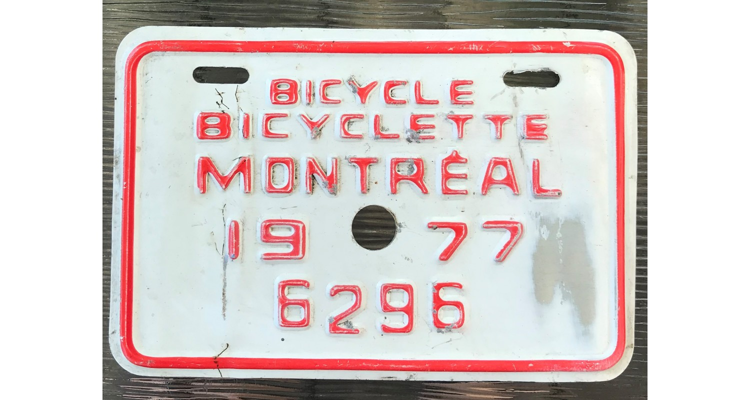 Quebec 1977 BICYCLE-MONTREAL
