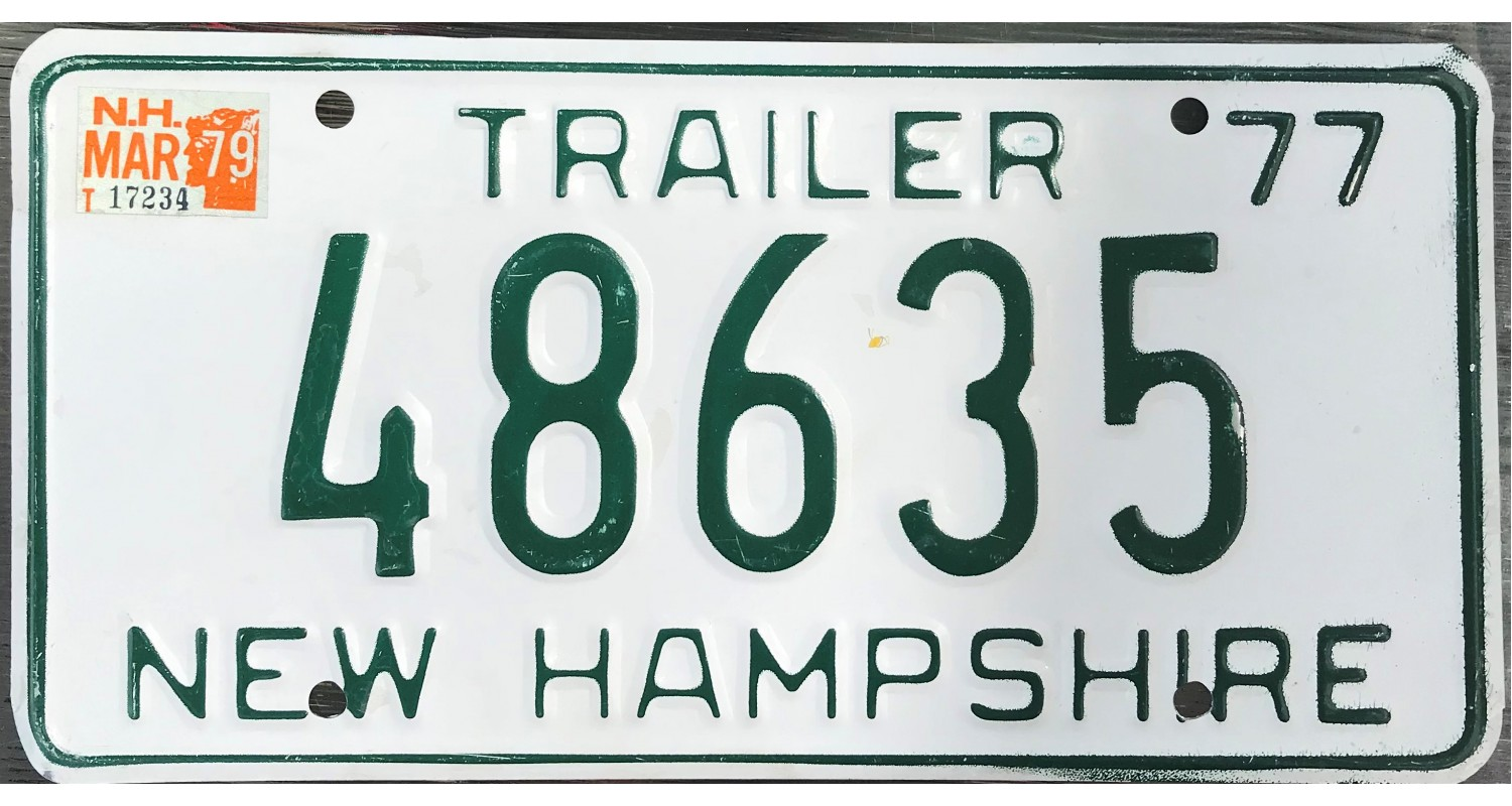 New Hampshire 1977 LIVE FREE OR DIE