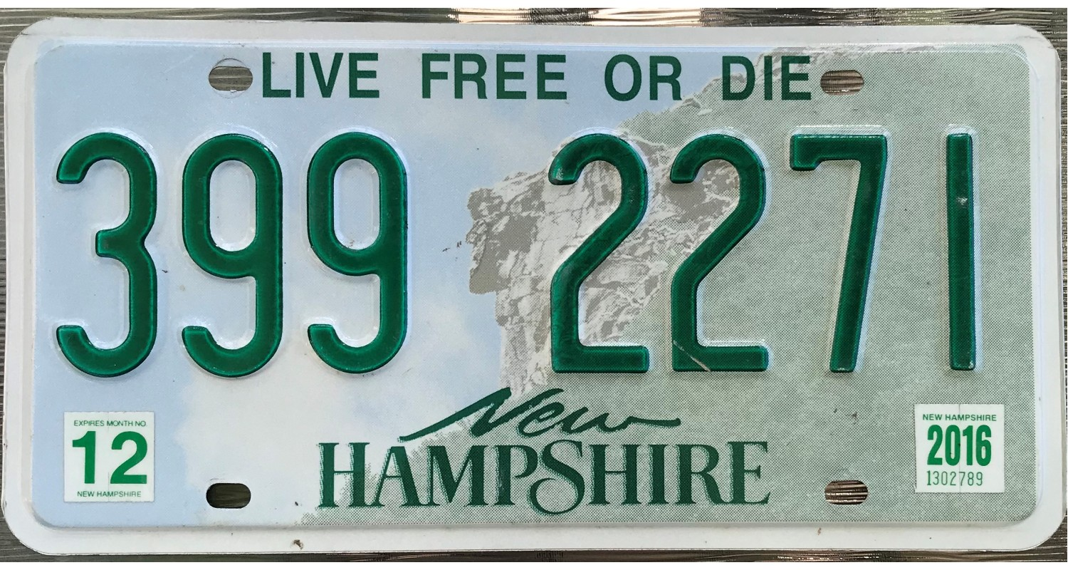 New Hampshire 2015's-LIVE FREE OR DIE
