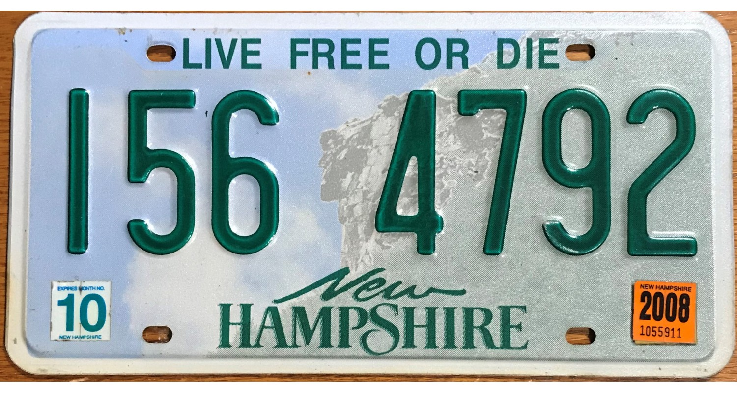 New Hampshire 2008-LIVE FREE OR DIE