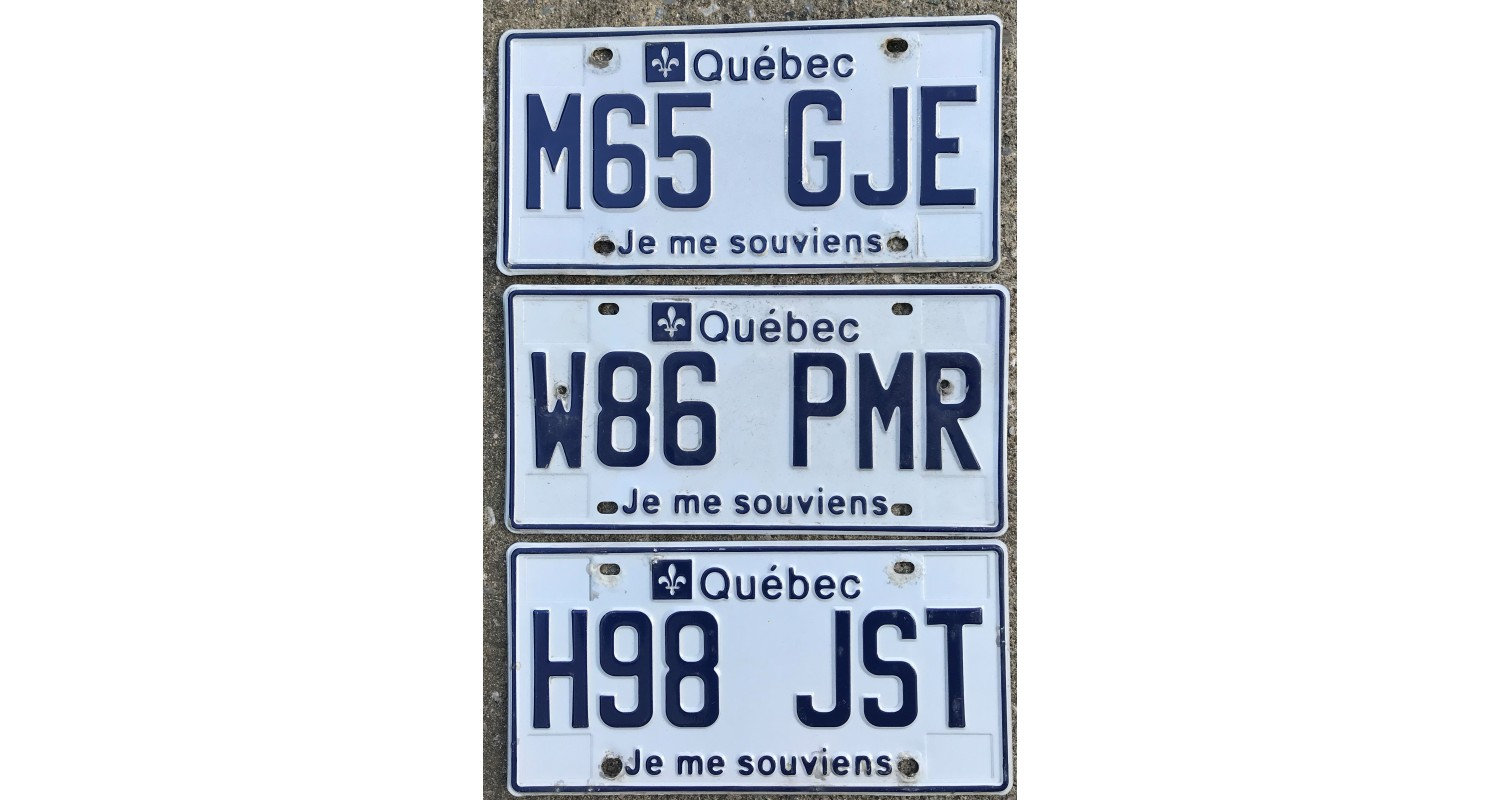 Quebec 2010's-LOT OF 3-FOR CRAFT