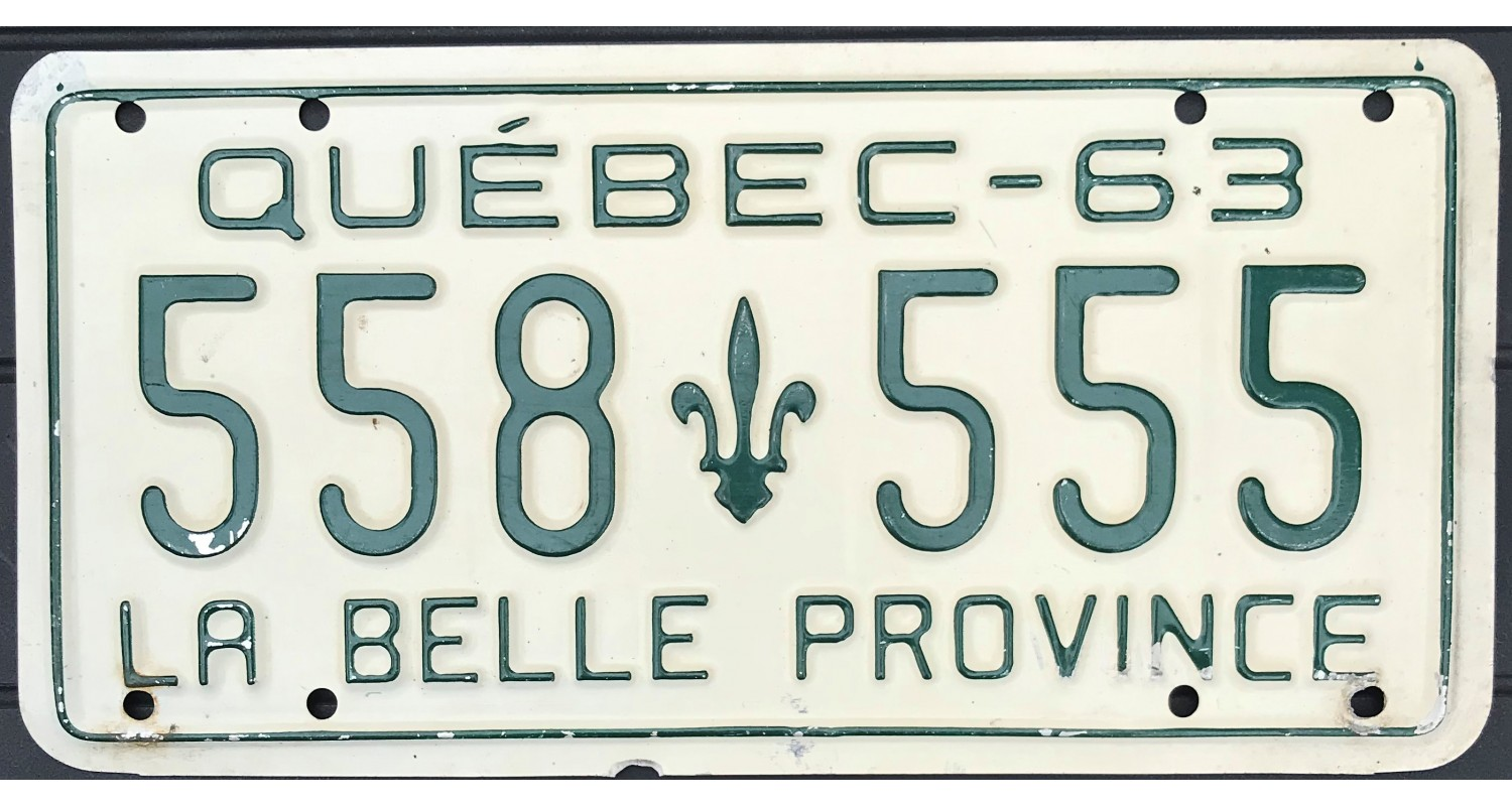 Quebec 1963 triple 555
