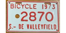 Quebec 1973 BICYCLE-SALABERRY DE VALLEYFIELD CITY
