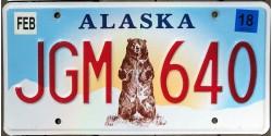 Alaska année 2015 OURS plaque d'immatriculation