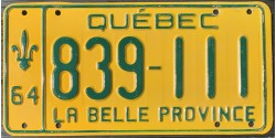 Quebec 1964-TRIPLE 111