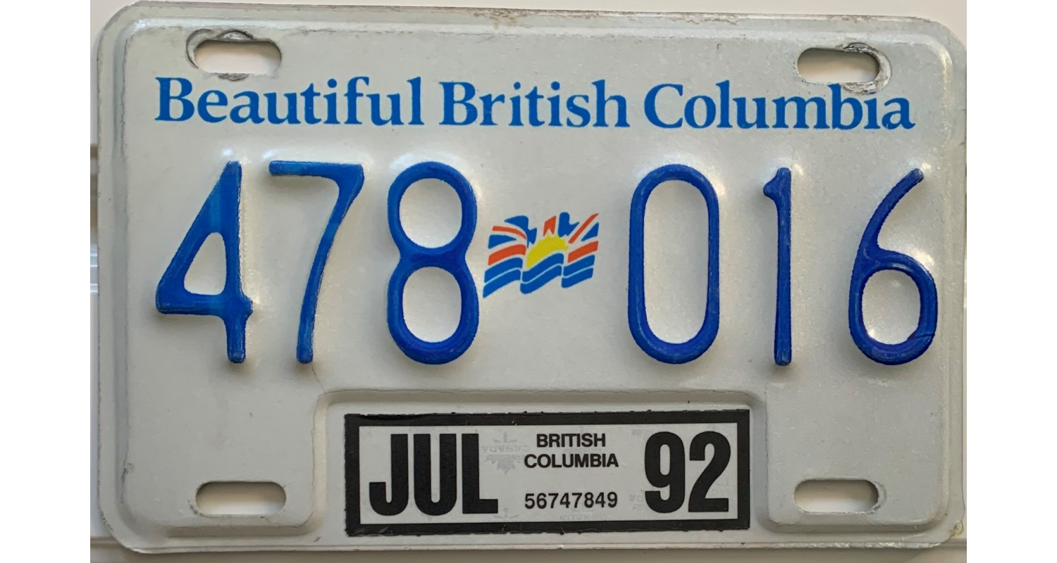 British Columbia 1992-MOTORCYCLE-FLAG