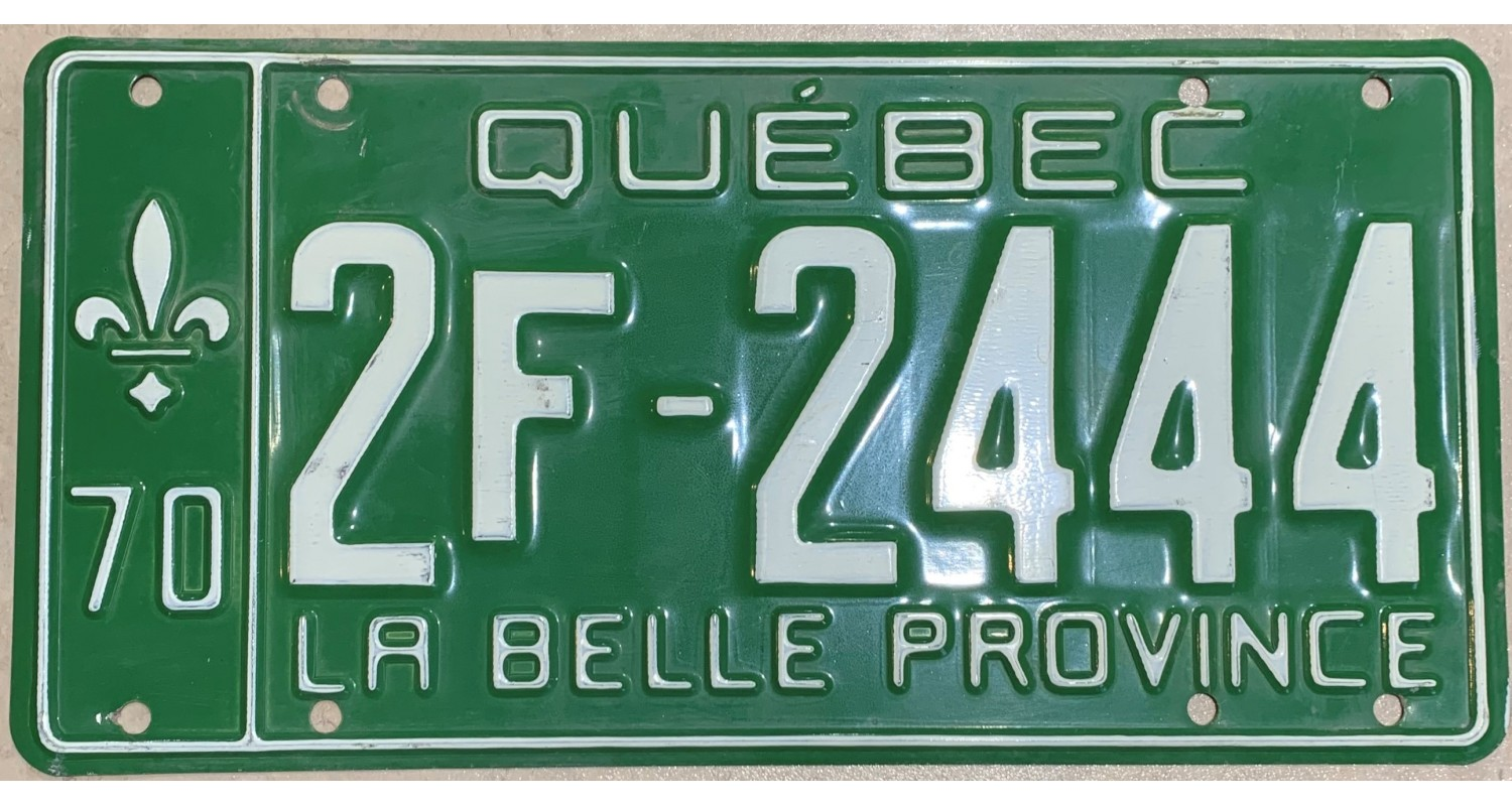 Quebec 1970 triple 444