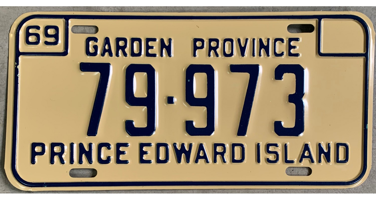 Prince Edward Island 1969  license plate
