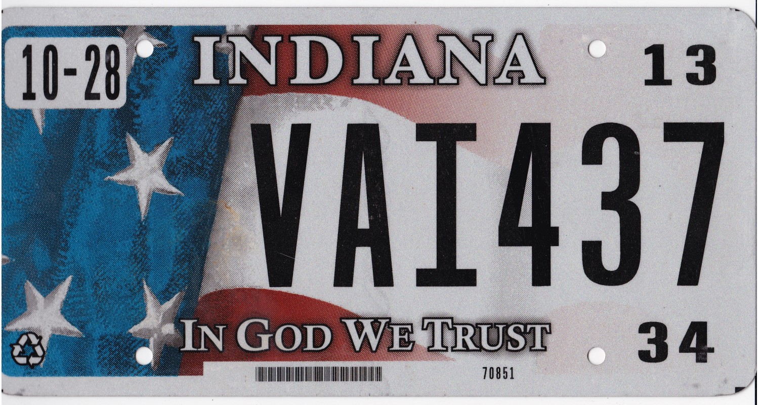 Indiana 2013-IN GOD WE TRUST-FLAG