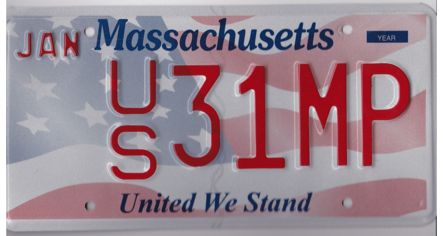 Massachusetts 2010's-UNITED WE STAND-FLAG