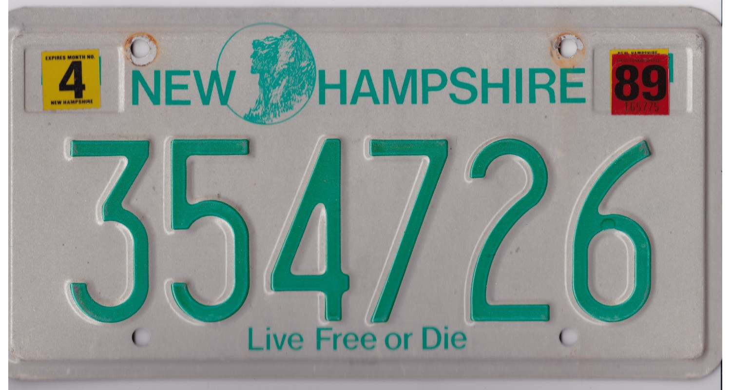 New Hampshire 1989-LIVE FREE OR DIE