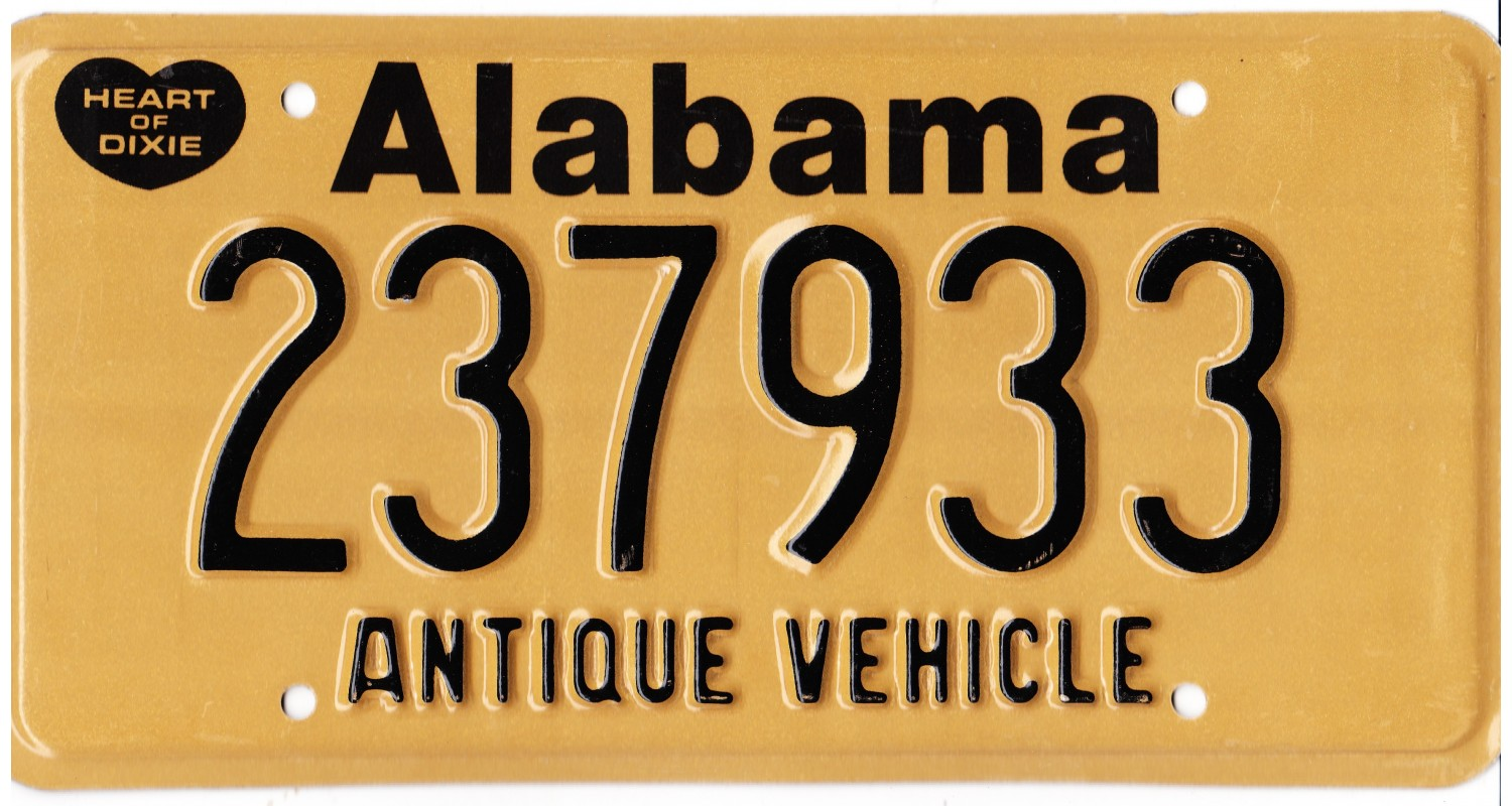 Alabama 1990's-HISTORIC VEHICLE