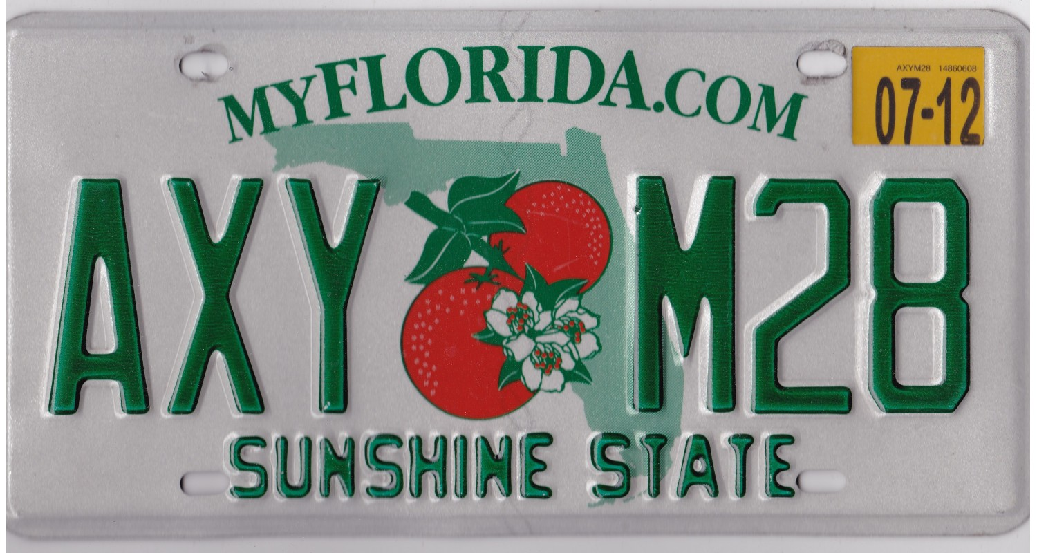 Florida 2000's-2010's-PLATE NUMBERS WILL BE DIFFERENT !