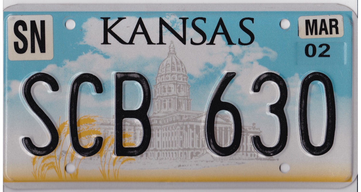 Kansas 2000's-2010's-PLATE NUMBERS WILL BE DIFFERENT !