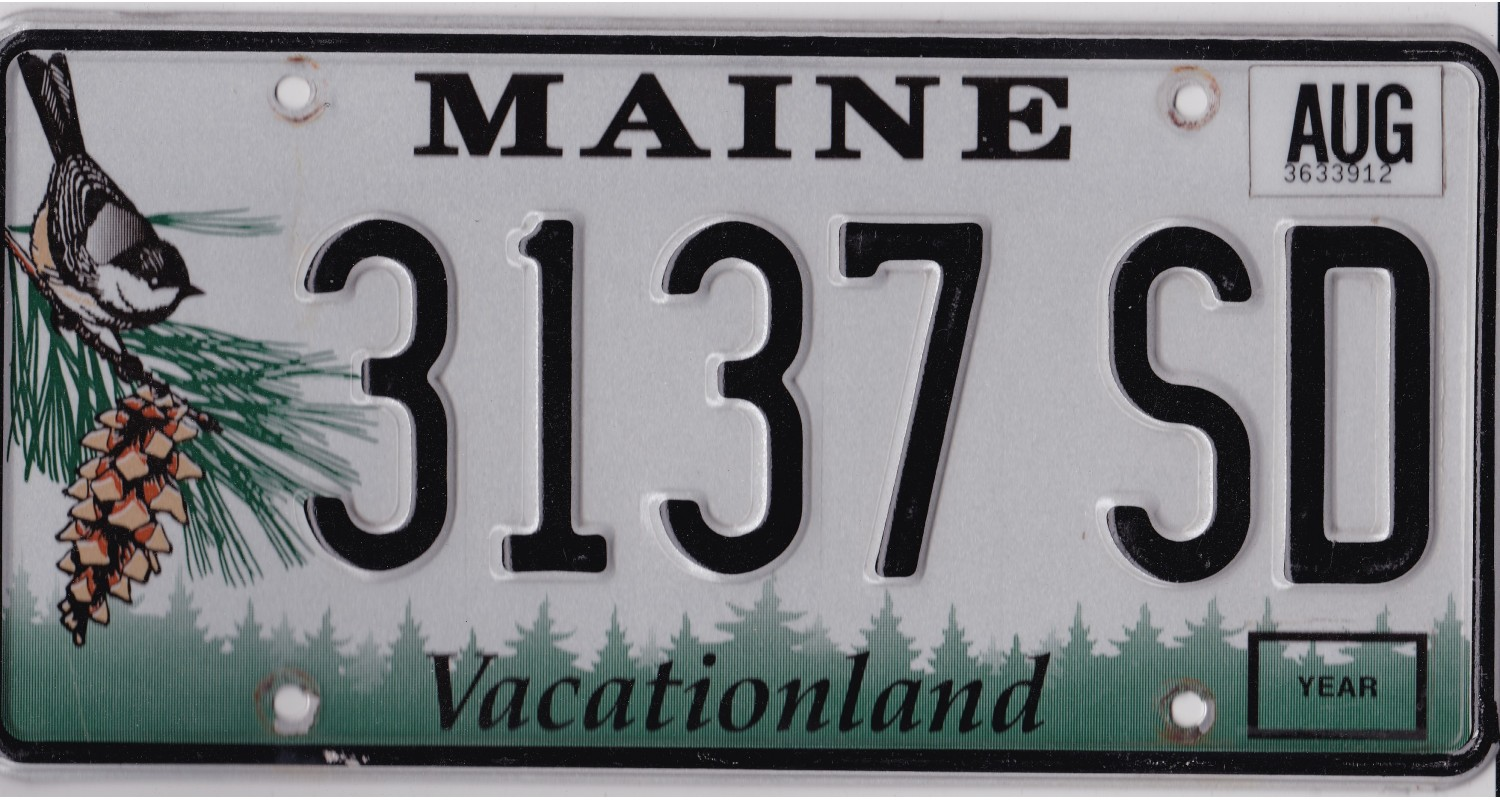 Maine 2000's-2010's-PLATE NUMBERS WILL BE DIFFERENT !