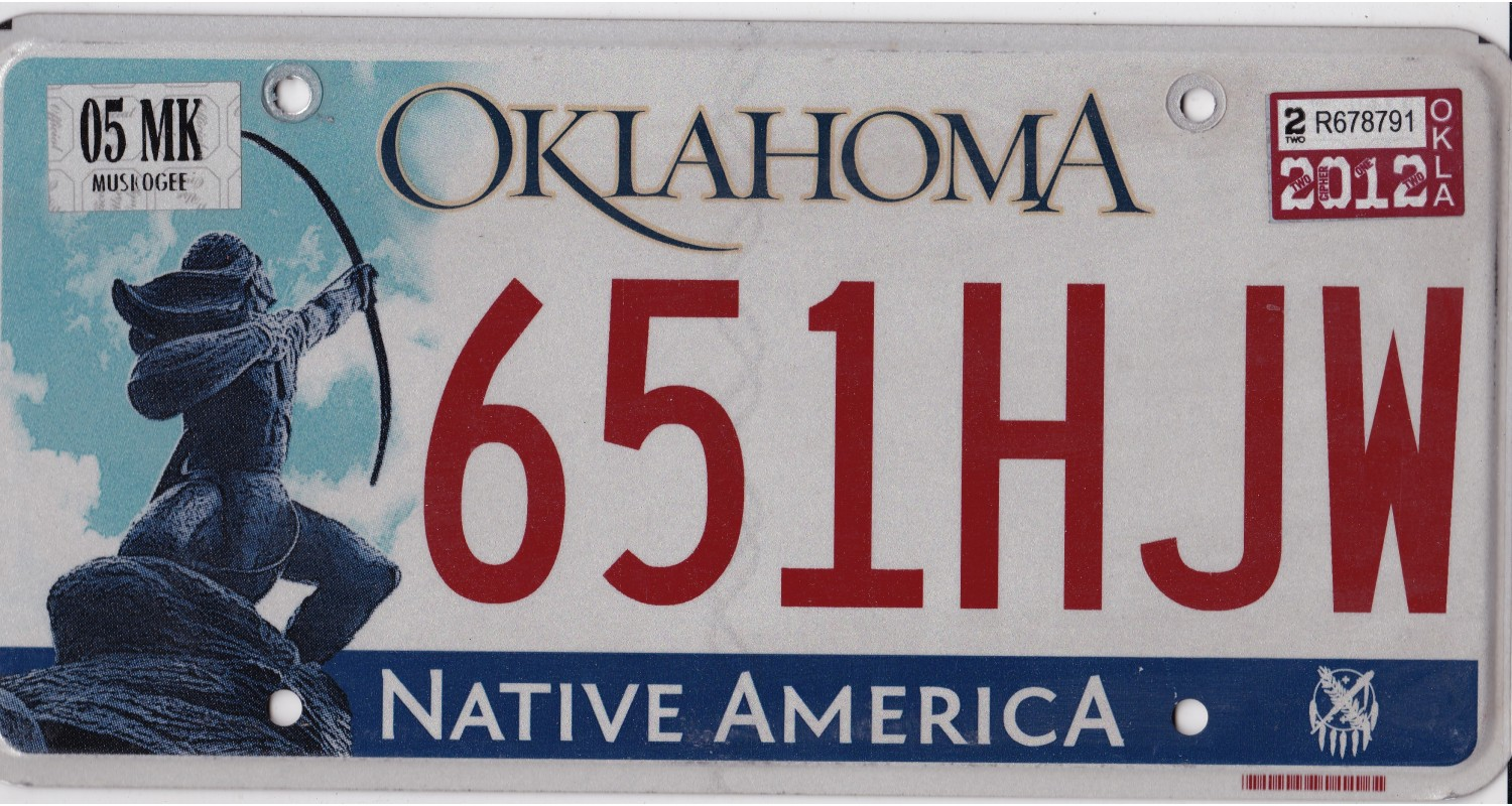 Oklahoma 2000's-2010's-PLATE NUMBERS WILL BE DIFFERENT !