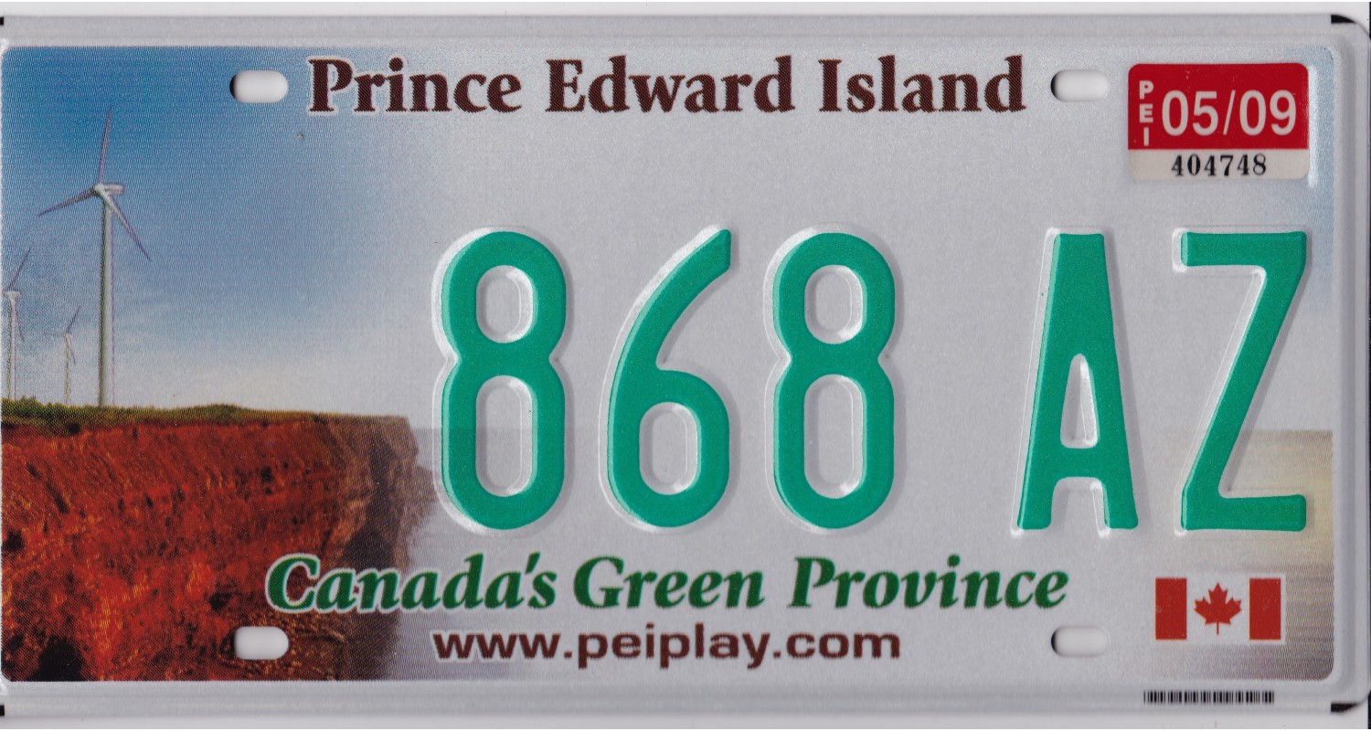 Prince Edward Island 2010's-PLATE NUMBERS WILL BE DIFFERENT-FLAG