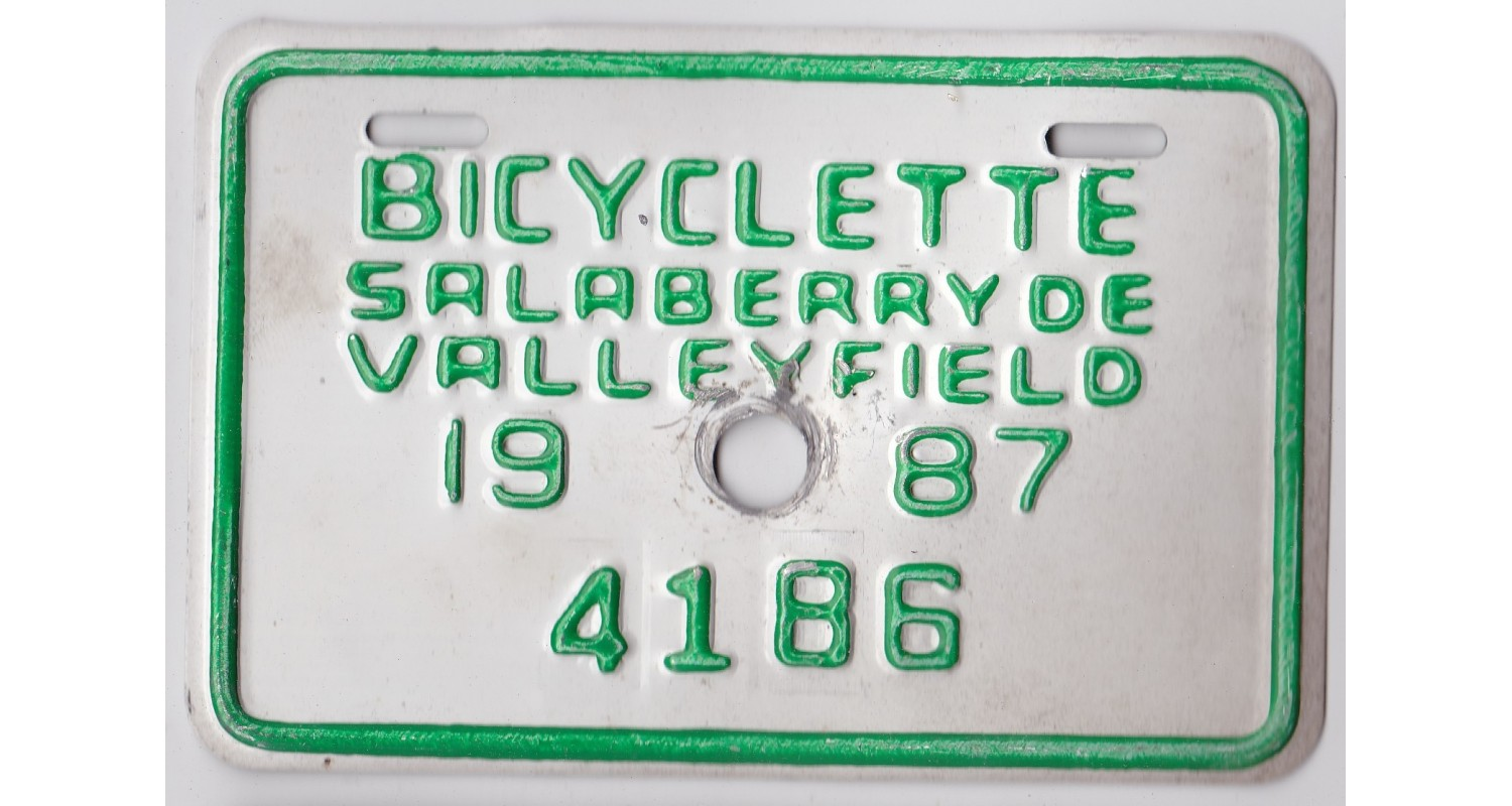 Quebec 1987 BICYCLE-SALABERRY DE VALLEYFIELD CITY