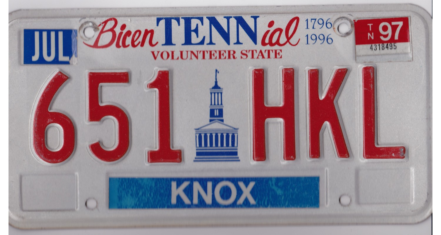 Tennessee 1997-KNOX COUNTY-BICENTENNIAL